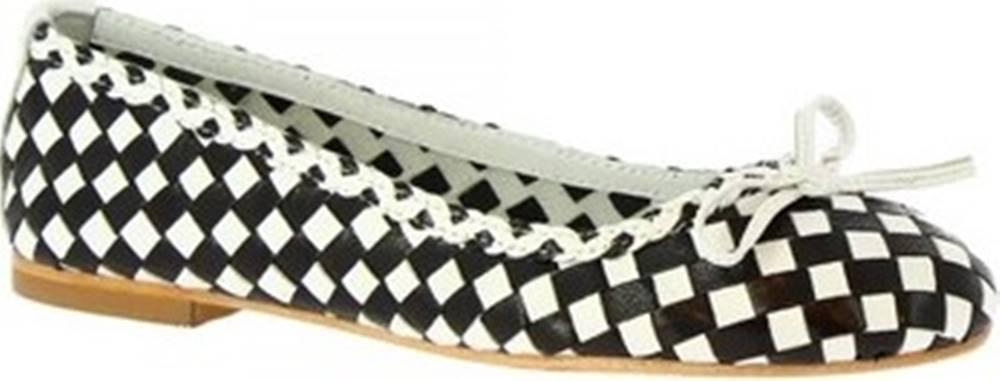 Leonardo Shoes Leonardo Shoes Baleríny GIANNA BLACK/WHITE ruznobarevne