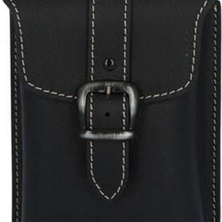 Kabea Malé kabelky Pánská kožená kapsa na opasek černá - Hepp 2 Černá