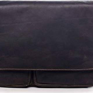 Greenwood Kabelky přes rameno Pánská kožená taška tmavě hnědá - Cheat Hnědá