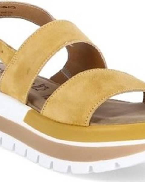 Žluté sandály tamaris