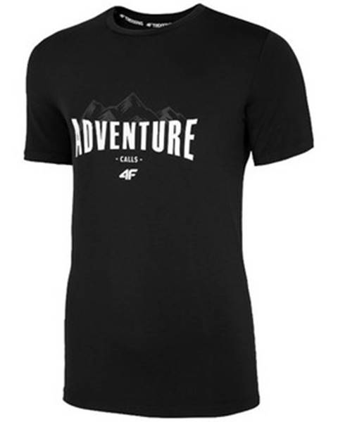 Černé tričko 4F