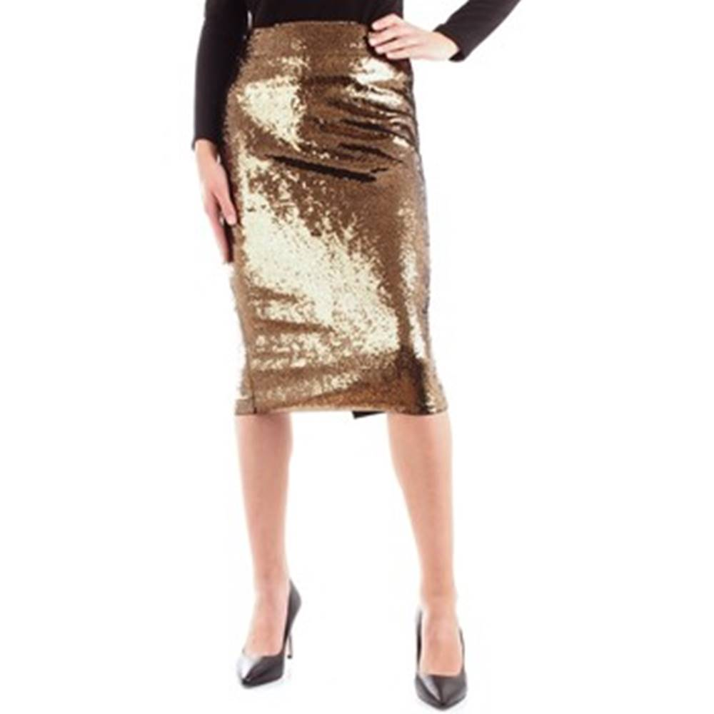 MICHAEL Michael Kors MICHAEL Michael Kors Krátké sukně MH97EVTDNZ Zlatá