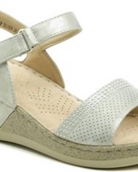 Stříbrné sandály T. Sokolski