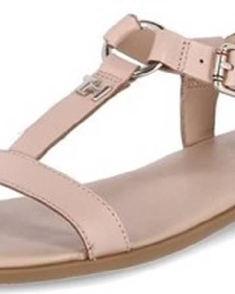 Růžové sandály tommy hilfiger
