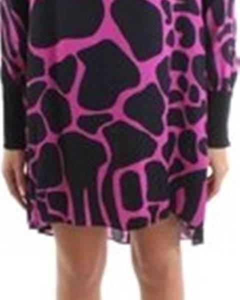 Fialové šaty Roberto Cavalli