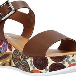 Grace Shoes Sandály 03 Hnědá