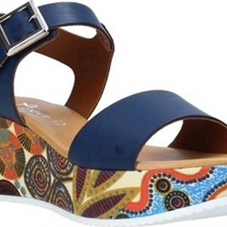 Grace Shoes Sandály 03 Modrá