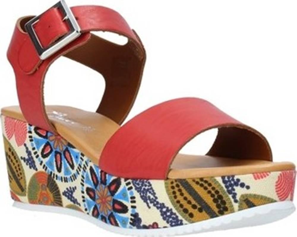 Grace Shoes Grace Shoes Sandály 03 Červená