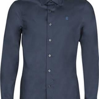 G-Star Raw Košile s dlouhymi rukáv DRESSED SUPER SLIM SHIRT LS Modrá