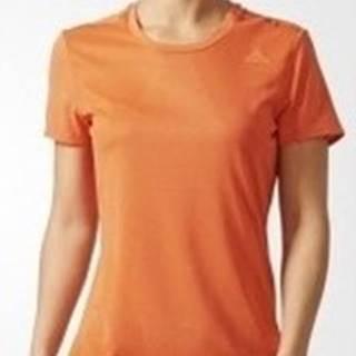adidas Trička s krátkým rukávem Supernova Short Sleeve Tee W Pomarańczowa Oranžová