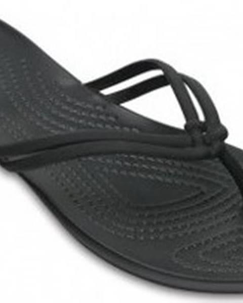 Černé pantofle crocs
