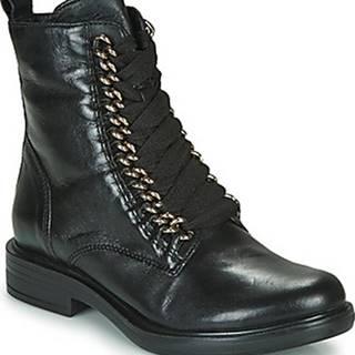 Mjus Kotníkové boty CAFE CHAIN Černá