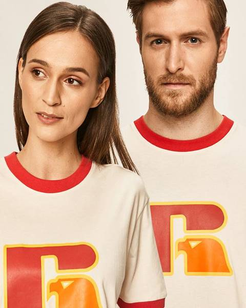 Béžové tričko Russell Athletic