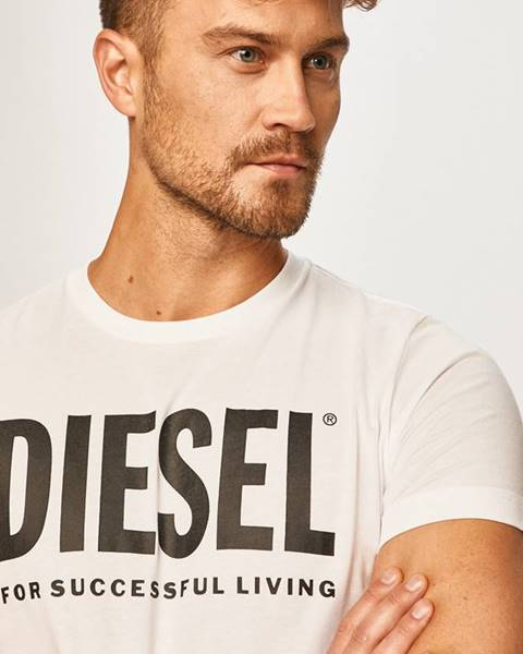 Bílé tričko Diesel
