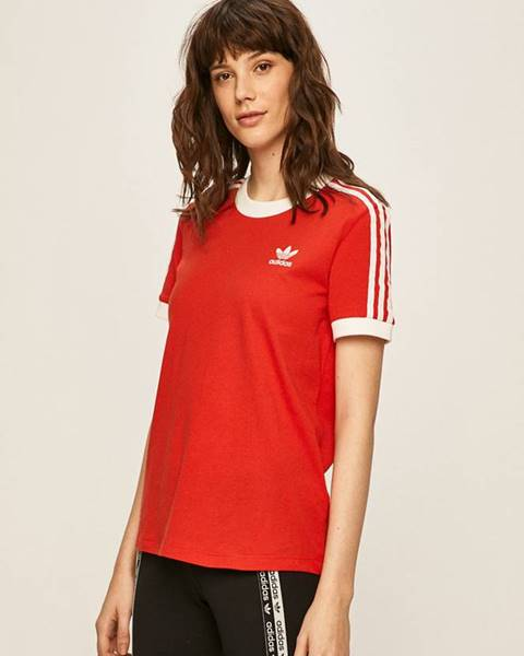 Červený top adidas originals