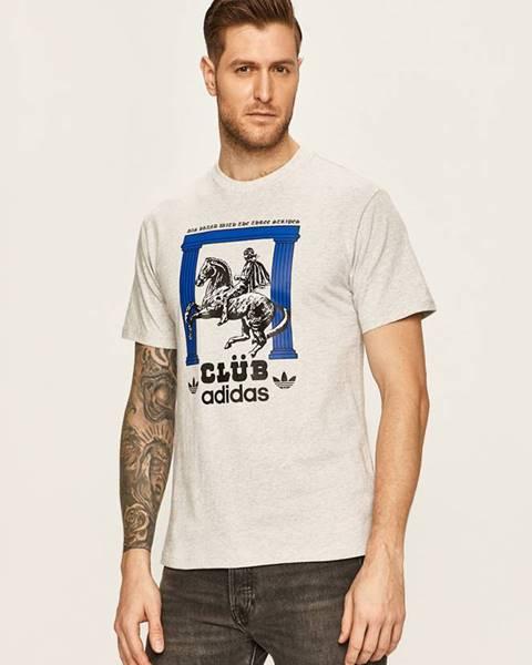 Šedé tričko adidas originals