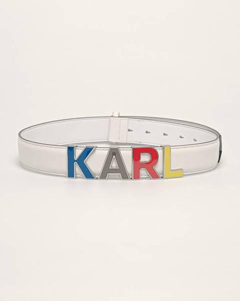 Bílý pásek karl lagerfeld