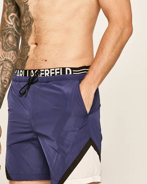Modré plavky karl lagerfeld