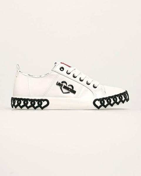 Bílé boty Love Moschino