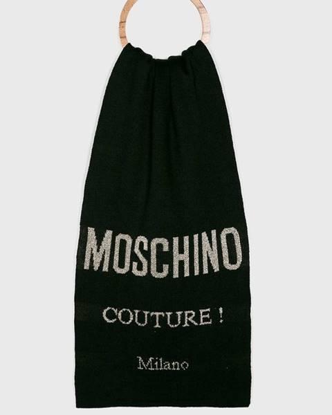 Černá šála Moschino