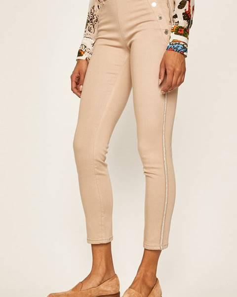 Béžové kalhoty Morgan