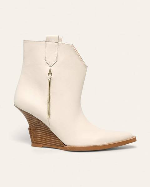 Béžové boty Patrizia Pepe