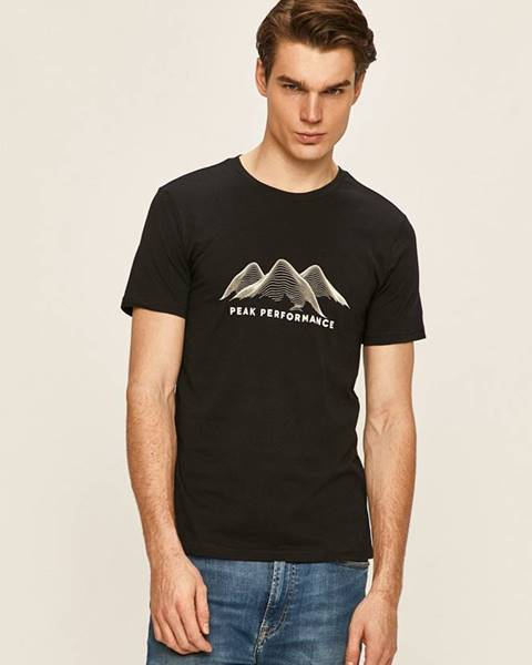 Černé tričko Peak Performance