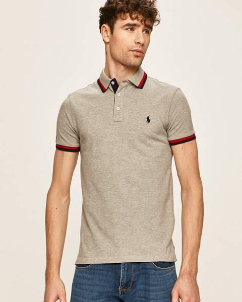 Šedé tričko Polo Ralph Lauren