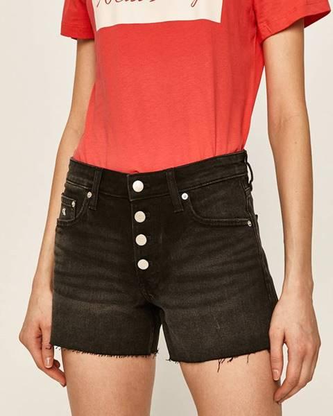 Černé kraťasy calvin klein jeans