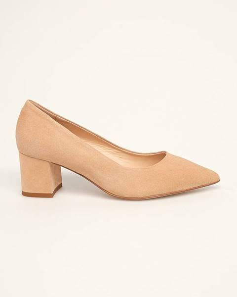 Béžové boty Solo Femme