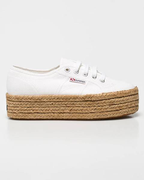 Bílé boty Superga