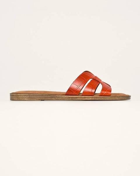 Oranžové boty tamaris