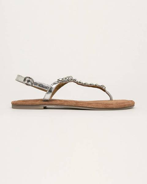 Stříbrné boty tamaris