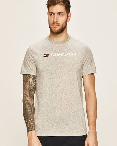 Šedé tričko Tommy Sport