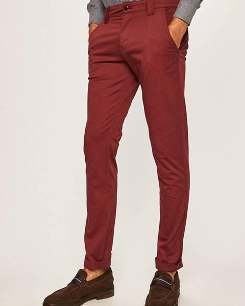 Burgundské kalhoty Tommy Jeans
