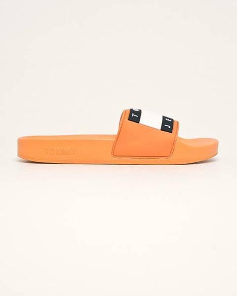 Oranžové boty Tommy Jeans