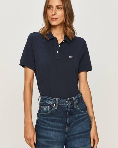 Modrý top Tommy Jeans