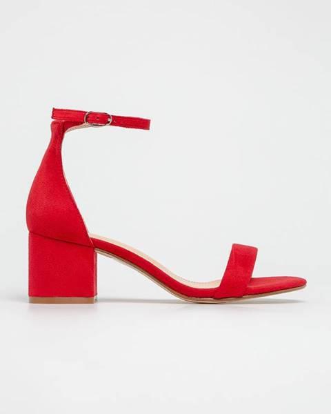 Červené boty Truffle Collection