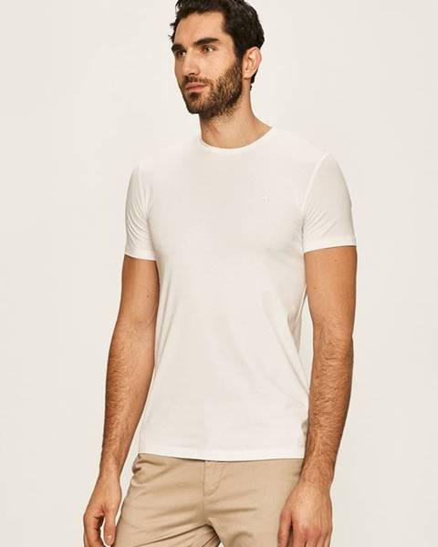 Bílé tričko Trussardi Jeans