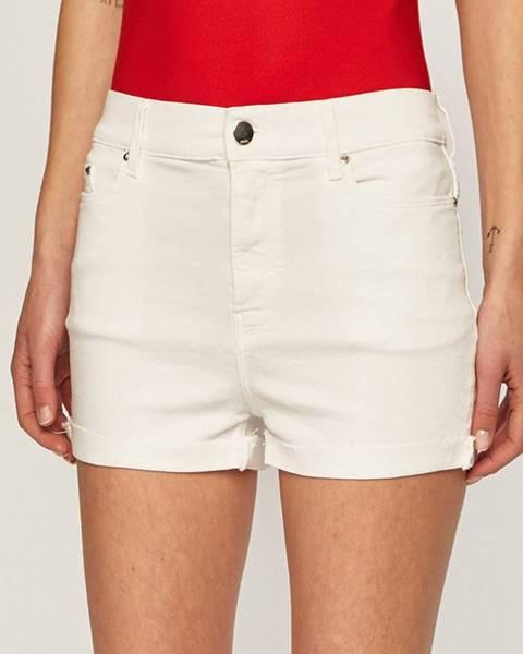 Bílé kraťasy Karl Lagerfeld Denim