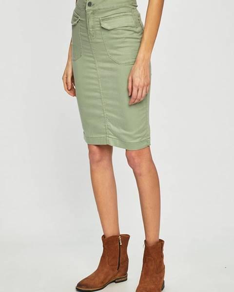 Zelená sukně ANSWEAR