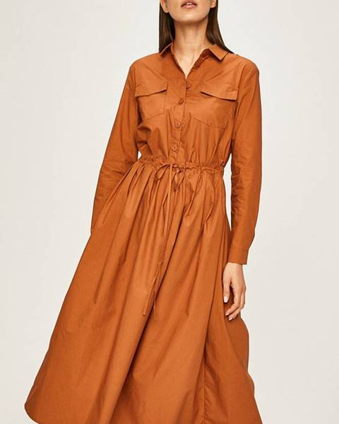 Hnědé šaty ANSWEAR