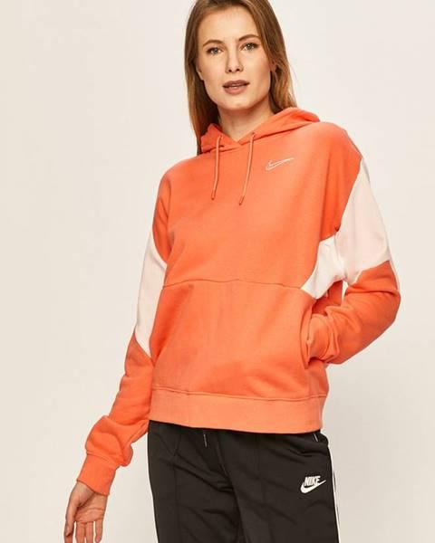 Oranžová mikina Nike Sportswear