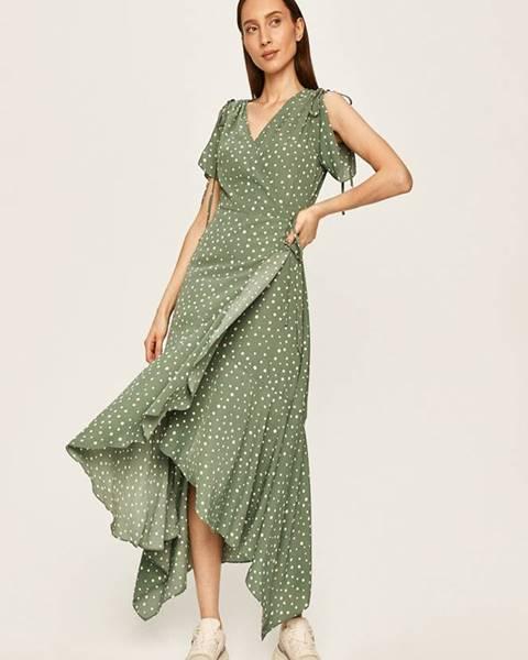 Tyrkysové šaty ANSWEAR