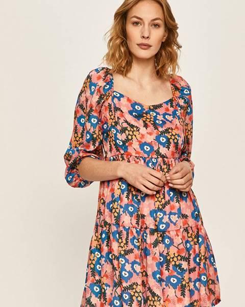 Vícebarevné šaty ANSWEAR