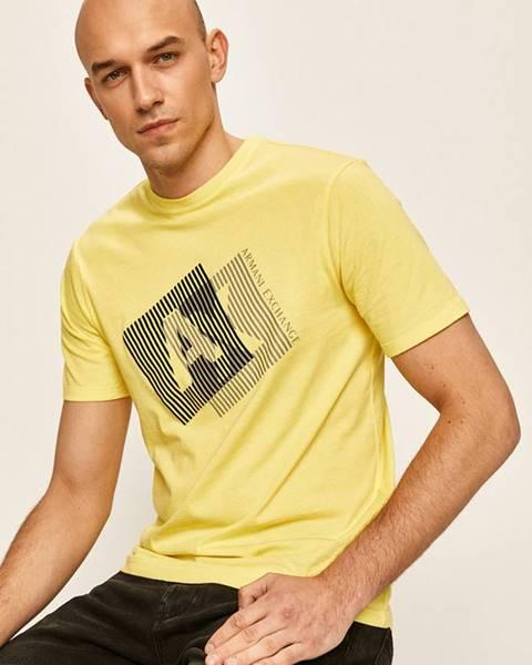 Žluté tričko Armani Exchange