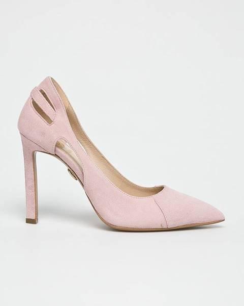 Růžové boty Baldowski