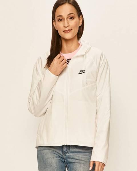 Bílá bunda Nike Sportswear