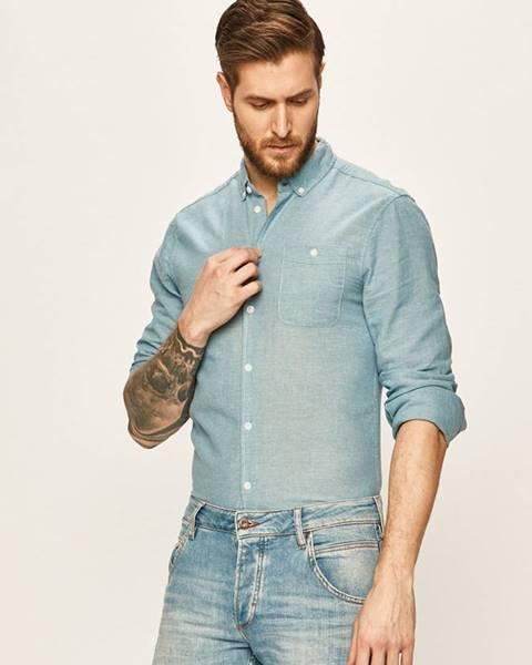 Modrá košile blend