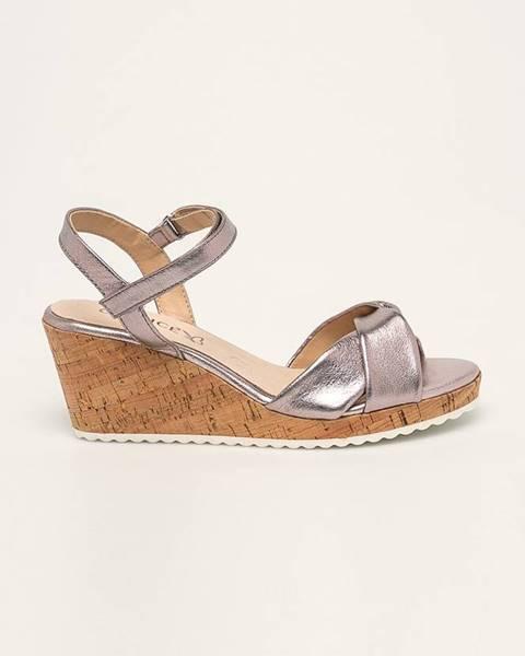 Fialové boty Caprice